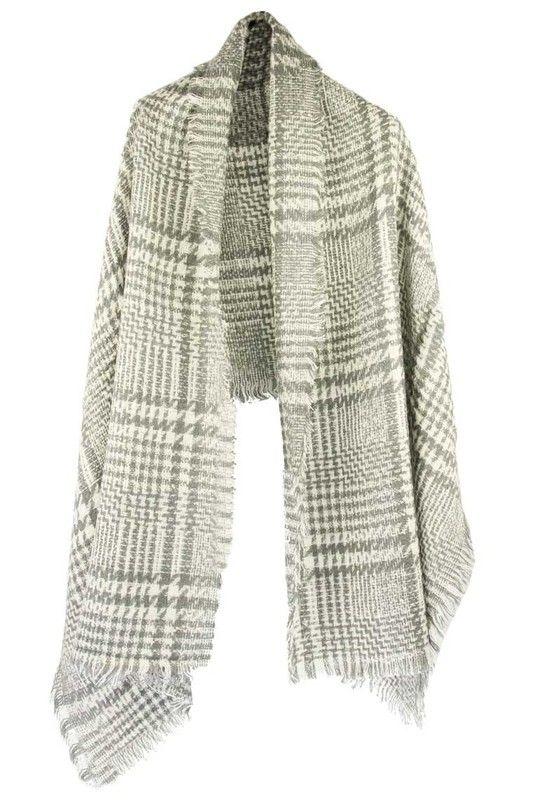 Sjaal grijs ruit