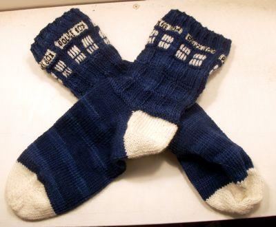 Tardis Socks - Knitting Pattern
