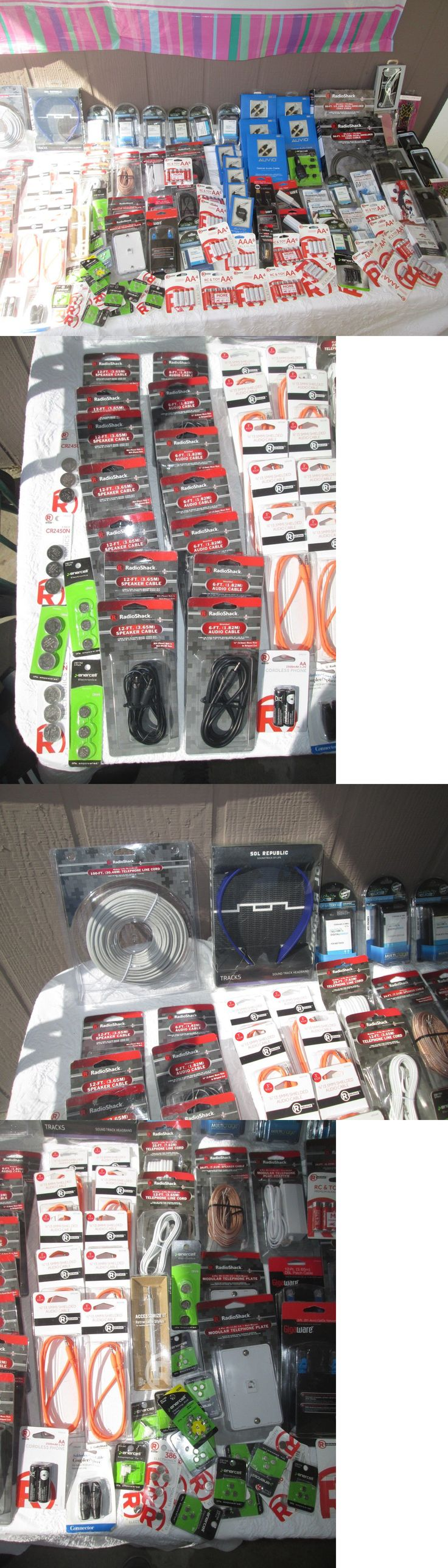 Other Consumer Electronic Lots: Wholesale Lot Of Radio Shack Merchandise 140 Pcs. For Retail New Jp 04 -> BUY IT NOW ONLY: $110.0 on eBay!