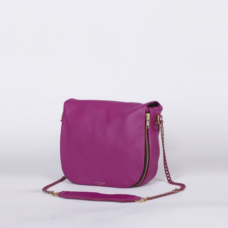 Deadly Ponies 'Mr Chain Mail' shoulder tote bag in Magenta.