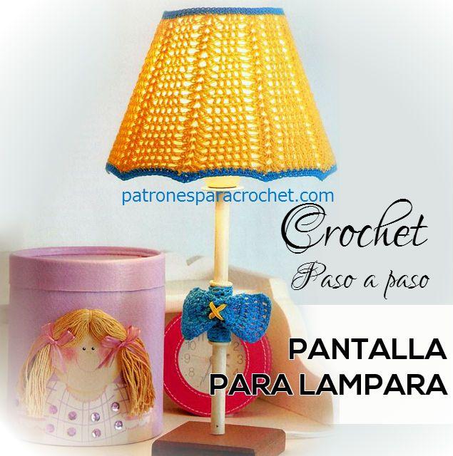 Patrones para crochet tutorial crochet pinterest - Lamparas y apliques de pared ...
