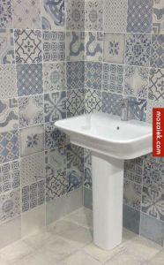 portugese tegels delfts blauw badkamer mix