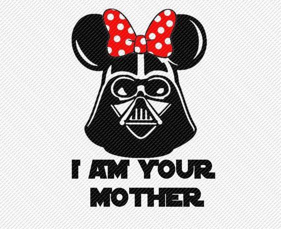Star Wars Ms Darth Vader Minnie Mouse Ears I am by DigitalDiva007