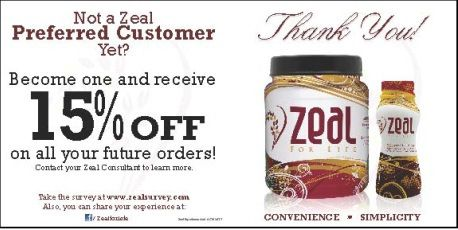Zeal For Life Products Price List Preferred Customer