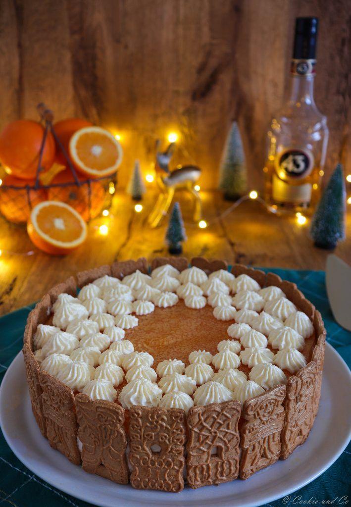 Spekulatius Torte Mit Mandarinen No Bake Backen Torte No Bake