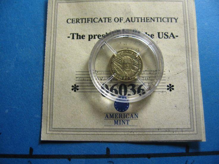 GEORGE BUSH JR. 2001 LIBERIA $10 1/2 GRAM GOLD .585 COIN COA RARE COOL ITEM