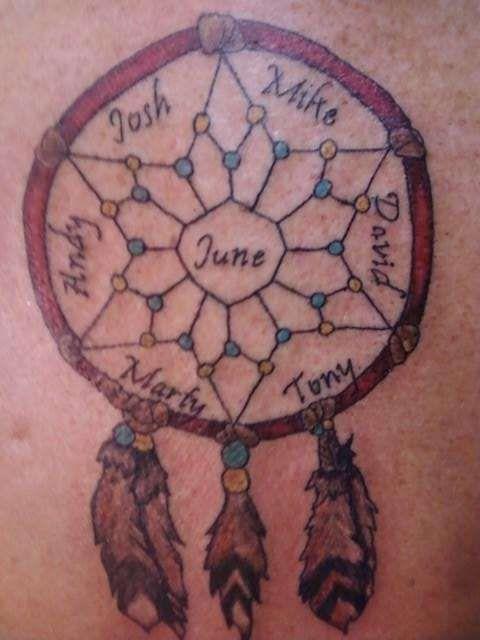 Dream Catcher Tattoo With Names 88 Best Tattoo Images On Pinterest  Tattoo Ideas Dream Catcher