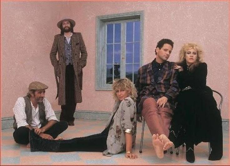 "John McVie (seated), Mick Fleetwood (standing), Christine McVie (on floor), Lindsey Buckingham and Stevie Nicks (on seat) in a photo shoot from the ""Tango in the Night"" sessions. The original album was released in April 1987 and was a worldwide hit, especially in England where it hit No. 1. In the United States the album spent 44 weeks in the Top 40."