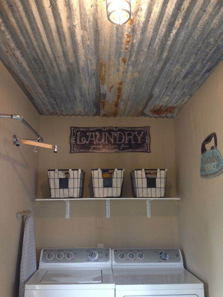 12 great sheet metal ideas: wainscoting, back splash, shower stall, laundry room ceiling, good info too.