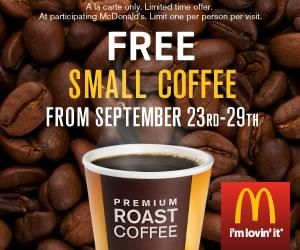 Mcdonalds free coffee 9 2012 300x250 photo