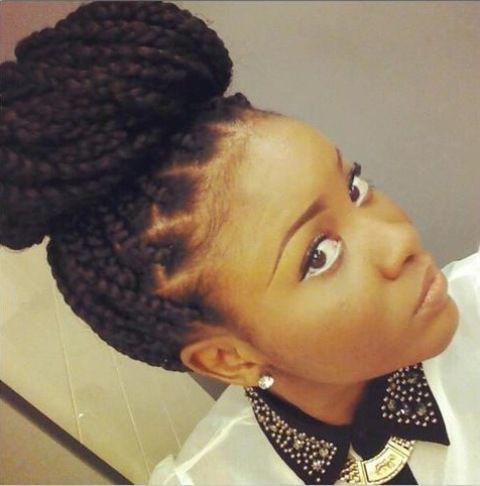 box braid up do hairstyles