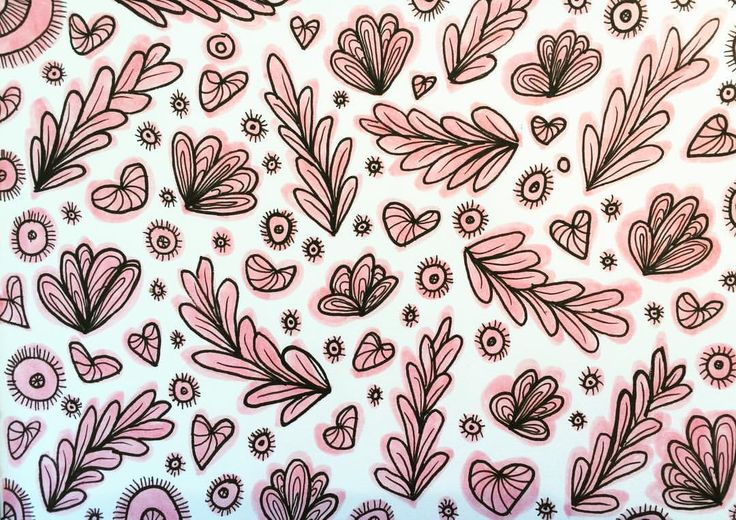 Pattern Design inspired by my succulent garden outside my studio...with a little 💗 added.  © Peta Mawby 2017