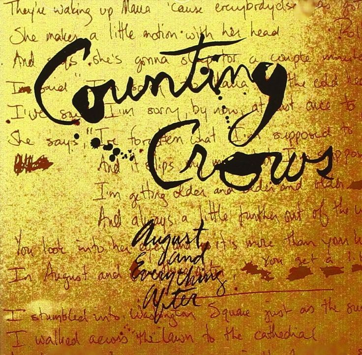 CountingCrows – August and Everything After Lyrics | Genius