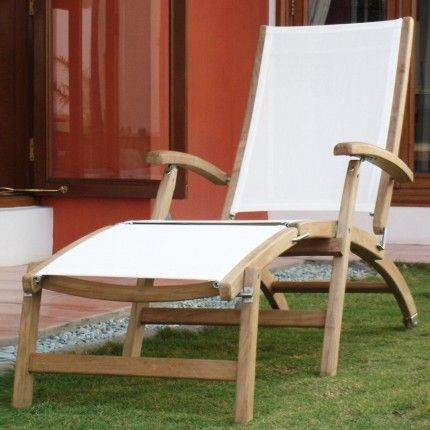 The Rivera Teak Wood Steamer Lounge Chair Will Turn Your Poolside Into A  Serene Tropical Oasis Retreat. Pair With Other Teak Furniture To Create A  Relaxing ...