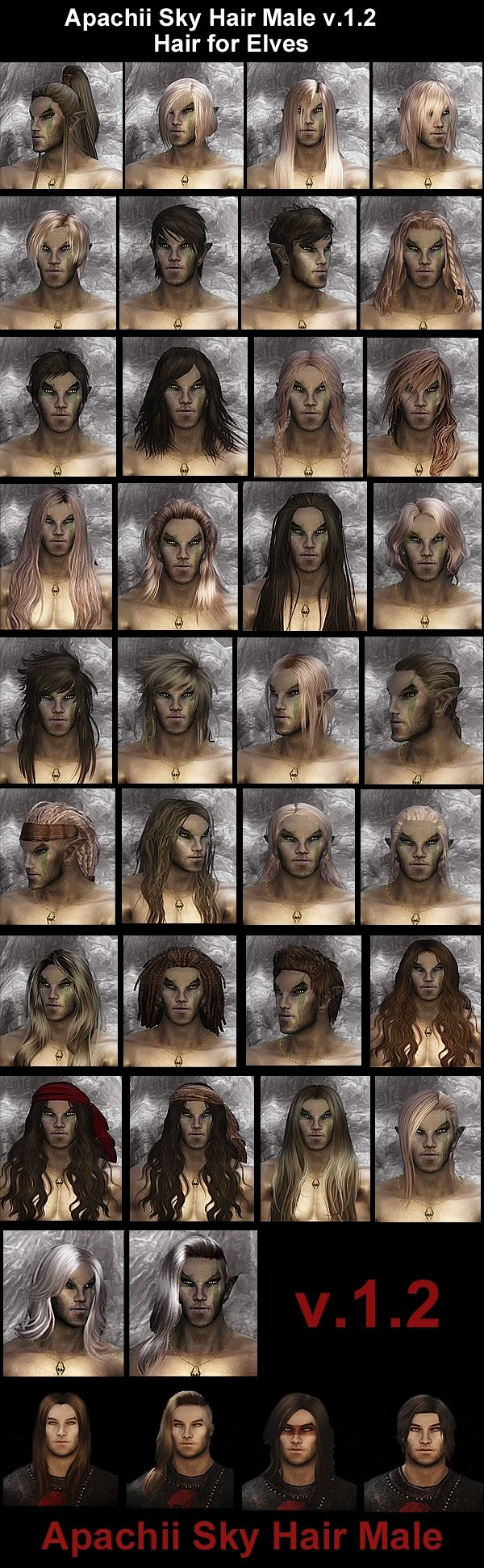 ApachiiSkyHair / Новые причёски от Апачи - Skyrim | ModGames.net