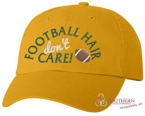 Football Hair Don't Care - Match Your Team Colors!