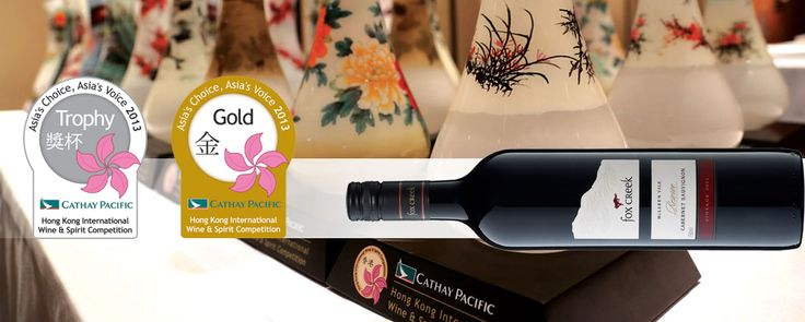 Fox Creek 2011 Reserve Cabernet Sauvignon Awarded a GOLD MEDAL & TROPHY for Best Australian Wine at the Hong Kong International Wine & Spirit Competition 2013!