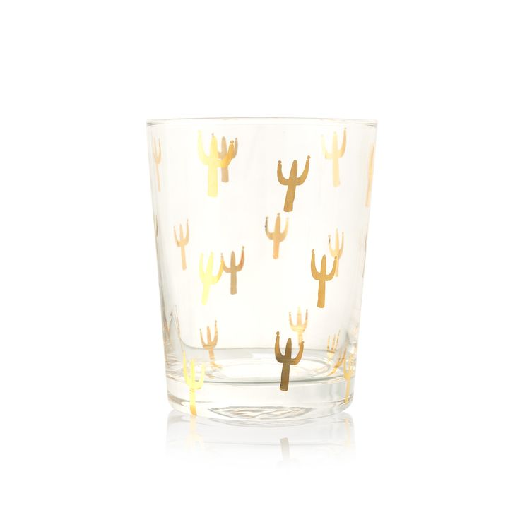 Buy the Gold Cacti Tumbler at Oliver Bonas. Enjoy free UK standard delivery for orders over £50.