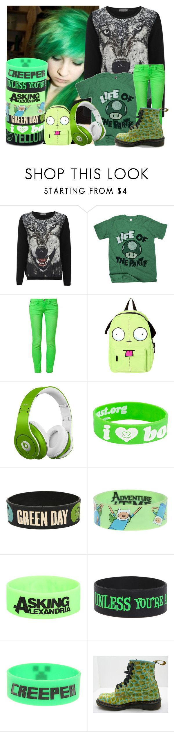 """""""Walkers"""" by nekoprincess ❤ liked on Polyvore featuring The Textile Rebels, One Green Elephant, Beats by Dr. Dre and Keep A Breast"""