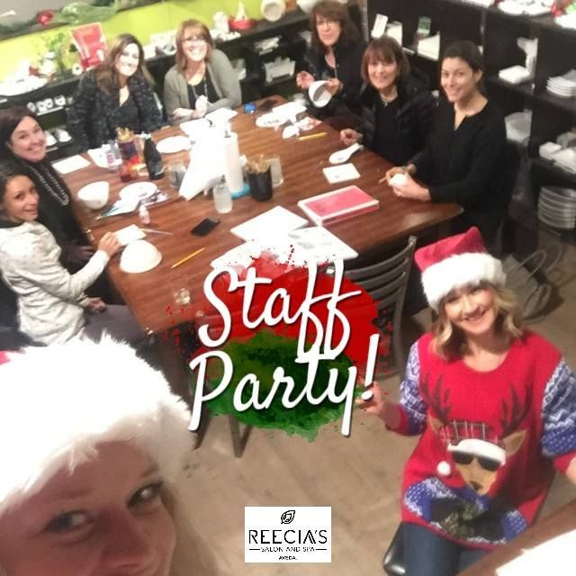 Our Staff Party yesterday at the Stumpton Art Studio in Whitefish.    . . . #staffparty #partying  #christmas #holidays #tistheseason #presents #gifts #gift #giftsets #avedagiftsets #workwithus #christmas2017 #avedachristmas2017 #joinourteam #bestofwhitefish #glaciermt #explorewhitefish #whitefish #montana #reeciasalonandspa #reeciasalon #WhitefishSpa #aveda #hair #hairstyle  #holidaymakeup
