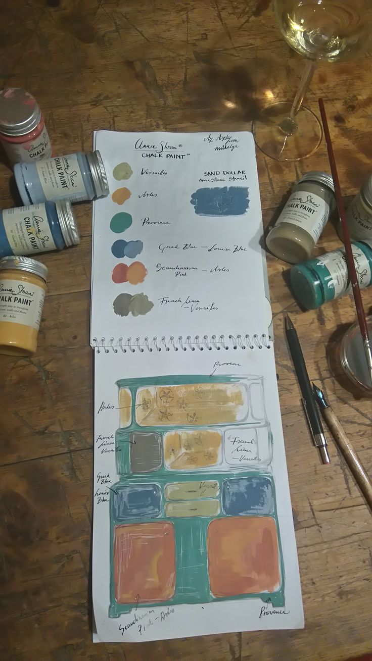Annie Sloan Chalk Paint, Provence, Arles, Stencil, French Linen, Greek Blue, furniture,