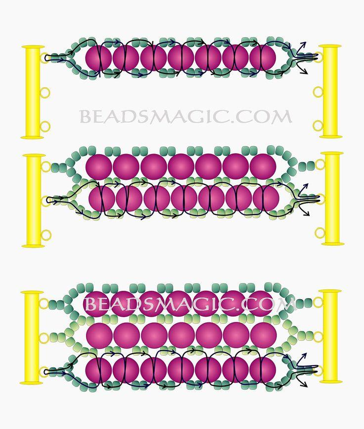 Free pattern for bracelet Snow