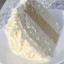 White Almond Wedding Cake Recipe - Allrecipes.com