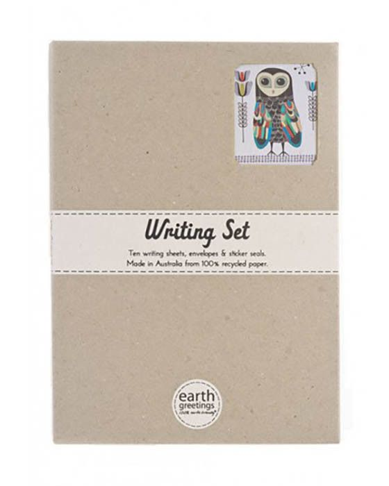 Earth Greetings - Writing Set - Lesser Sooty Owl – Daisy Chain Store