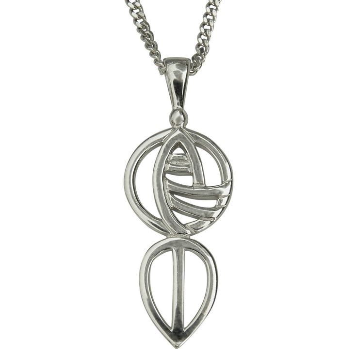 Cairn 762 Silver Rennie Mackintosh Pendant - 'Art School'. Tarnish Resistant. British Made. Rennie Mackintosh Jewellery. ** Visit the image link for more details. #Necklaces