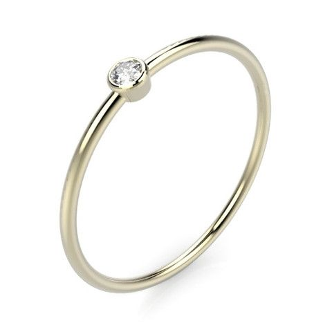 Odile Diamond ring 14k goud (1,2mm) – Saddal jewels Amsterdam