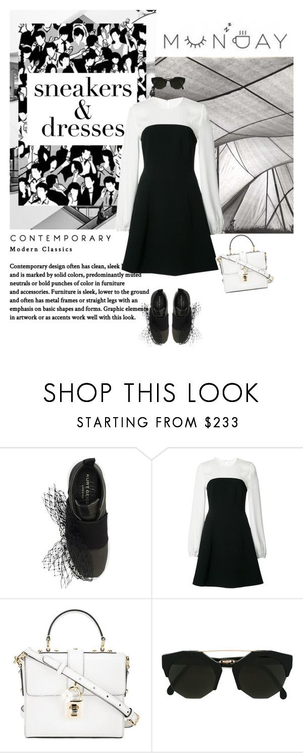 """""""Sporty Chic: Sneakers and Dresses"""" by tamara-40 ❤ liked on Polyvore featuring Kurt Geiger, Cinq à Sept, Dolce&Gabbana and Kyme"""