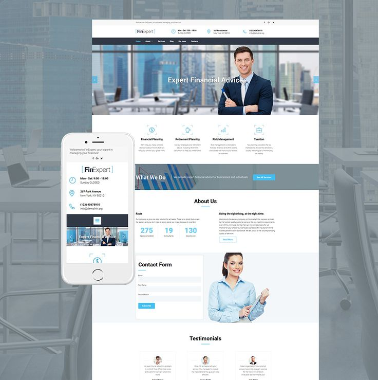 40 best business website templates images on pinterest business website template for financial advisors wajeb Choice Image