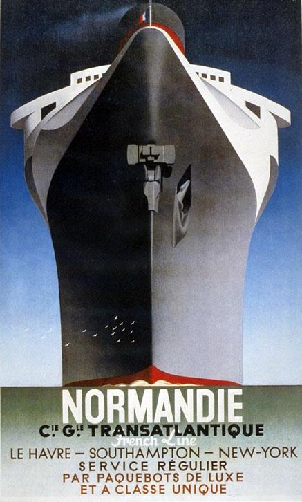 Normandie Transatlantique | Retro advertising | Vintage poster