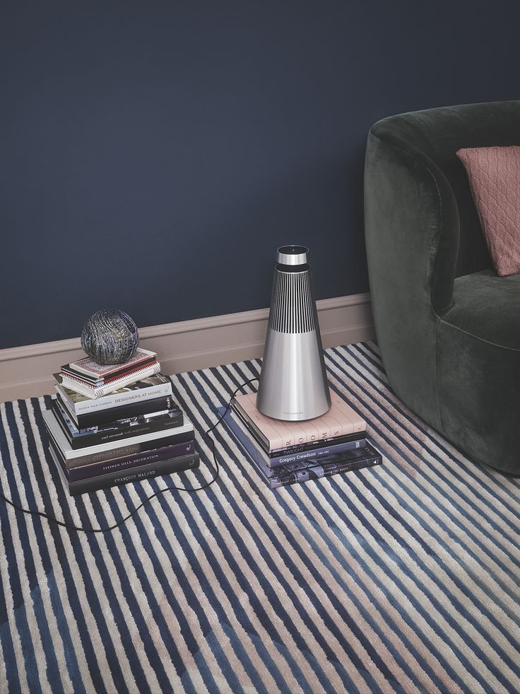 BeoSound 2 can be placed anywhere! Here in a cozy living room interior.