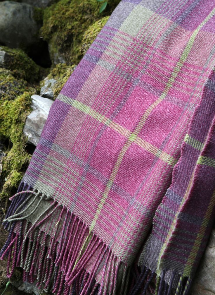 Cairngorm Wool/Cotton Throw | ANTA - made in Scotland