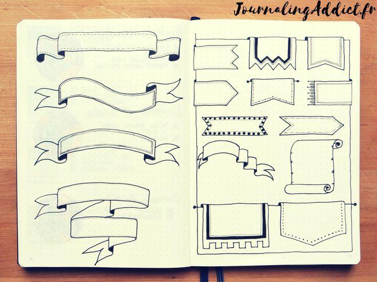 bannieres pour le bullet journal banners pour le bujo banni res bullet journal clips. Black Bedroom Furniture Sets. Home Design Ideas