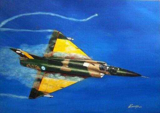 """1ro. de Mayo de 1982. El Mirage V Dagger C-237 del Capitan Carlos """"Talo"""" Moreno, evade un misil AIM-9L lanzado por un Sea Harrier"""