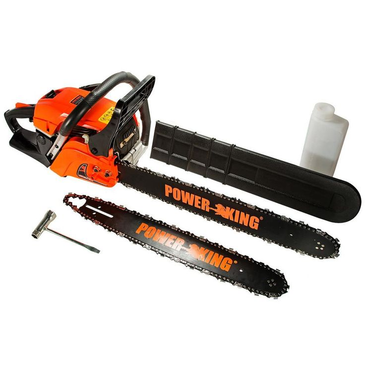 Power King 22 in. and 18 in. 57cc Heavy Duty Gas Chainsaw Combo, Antivibe System