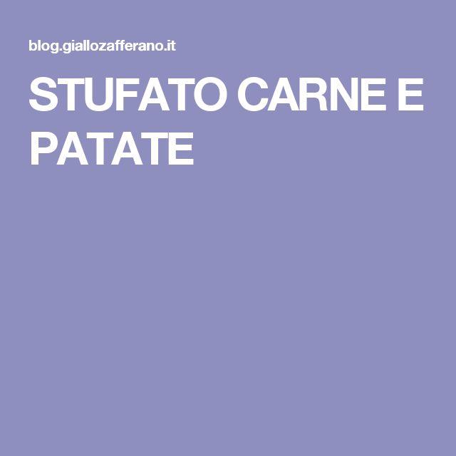 STUFATO CARNE E PATATE