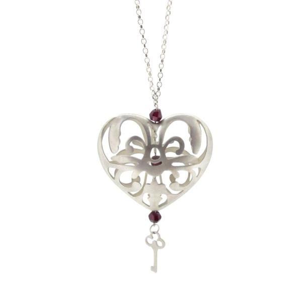 Sian Bostwick Jewellery Alices Tumble Heart Necklace - 16 wgDVnsiQSj
