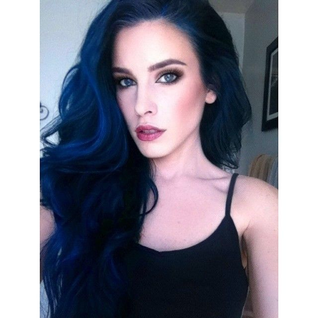 "864 Likes, 31 Comments - Lauren Calaway (@laurencalaway) on Instagram: ""I love my blue hair. Dare to be different. For so long, people told me not to do it, but you have…"""