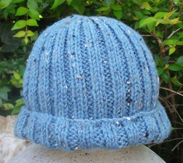 Blue Hand Knitted Kids Cap
