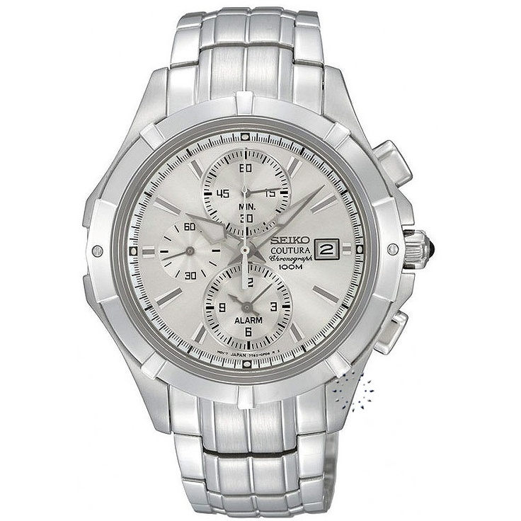 SEIKO Chronograph Stainless Steel Bracelet, 365€ http://www.oroloi.gr/product_info.php?products_id=24008