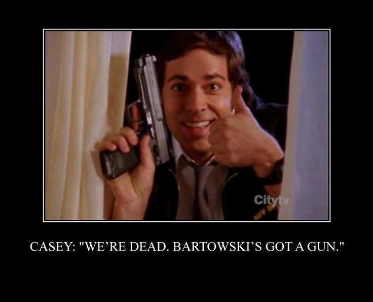 """Casey: """"We're dead, Bartowski's got a gun."""" - Chuck"""