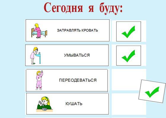 Расписание дня для ребенка с РАС. Переход от картинок к списку | Pecs.in.ua