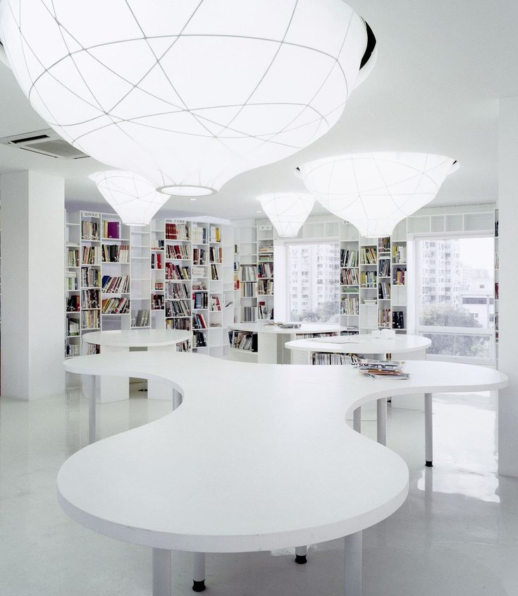 Beautiful Interior Design Small Space Office Layout, Modern And Elegant Work Space Office  Interior Design, Design Contemporary White Interior Office Space Library,  ... Amazing Pictures