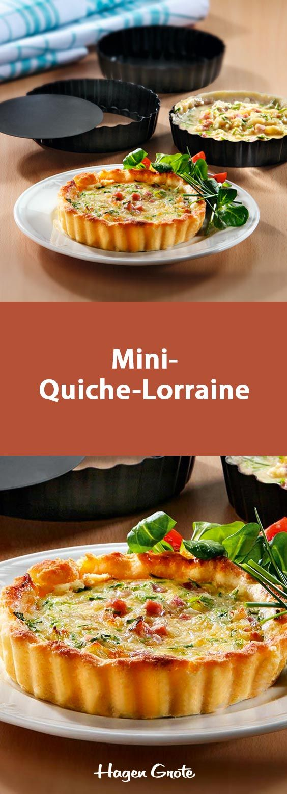 Fancy Das Rezept f r Mini Quiche Lorraine und viele weitere leckere Rezepte f r Hobbyk che finden Sie hier online auf hagengrote de