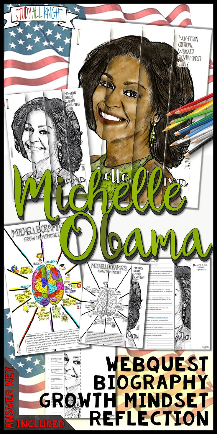 Michelle Obama Black History Month Writing Activity