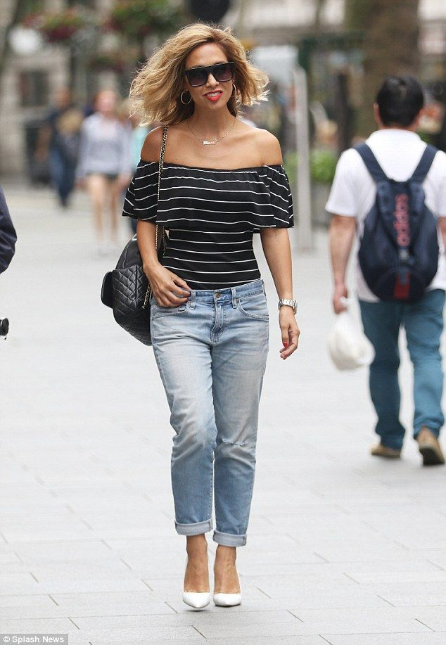 Golden (haired) girl! Myleene Klass stepped out in London with freshly dyed blonde hair on...