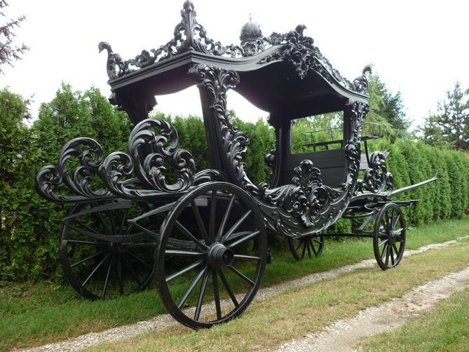 antique funeral carriages | Austrian funeral horse drawn carriage : Antiqobay Worldwide Free ...